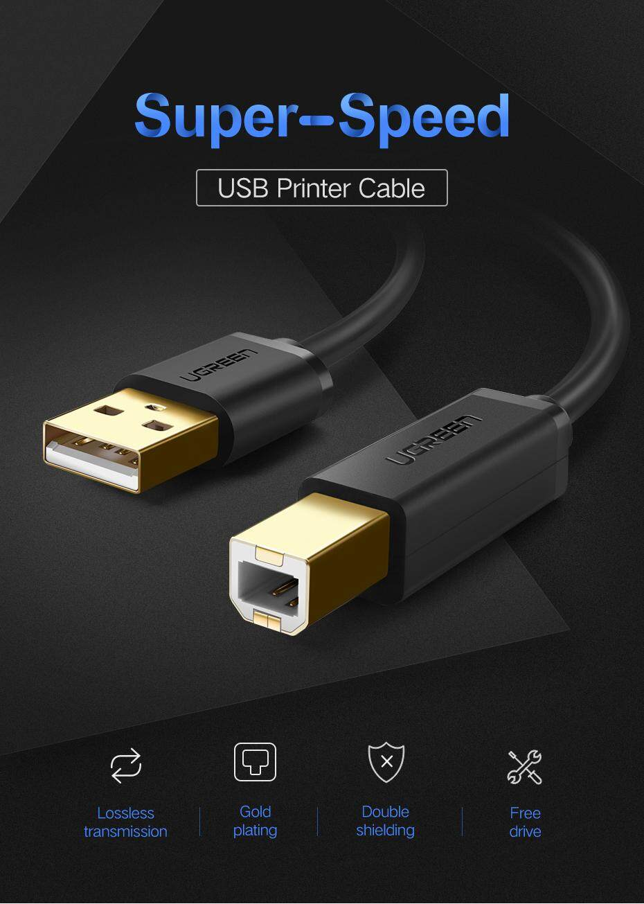 Ugreen 3meter Usb 2 0 Printer Cable Scanner A Male To B