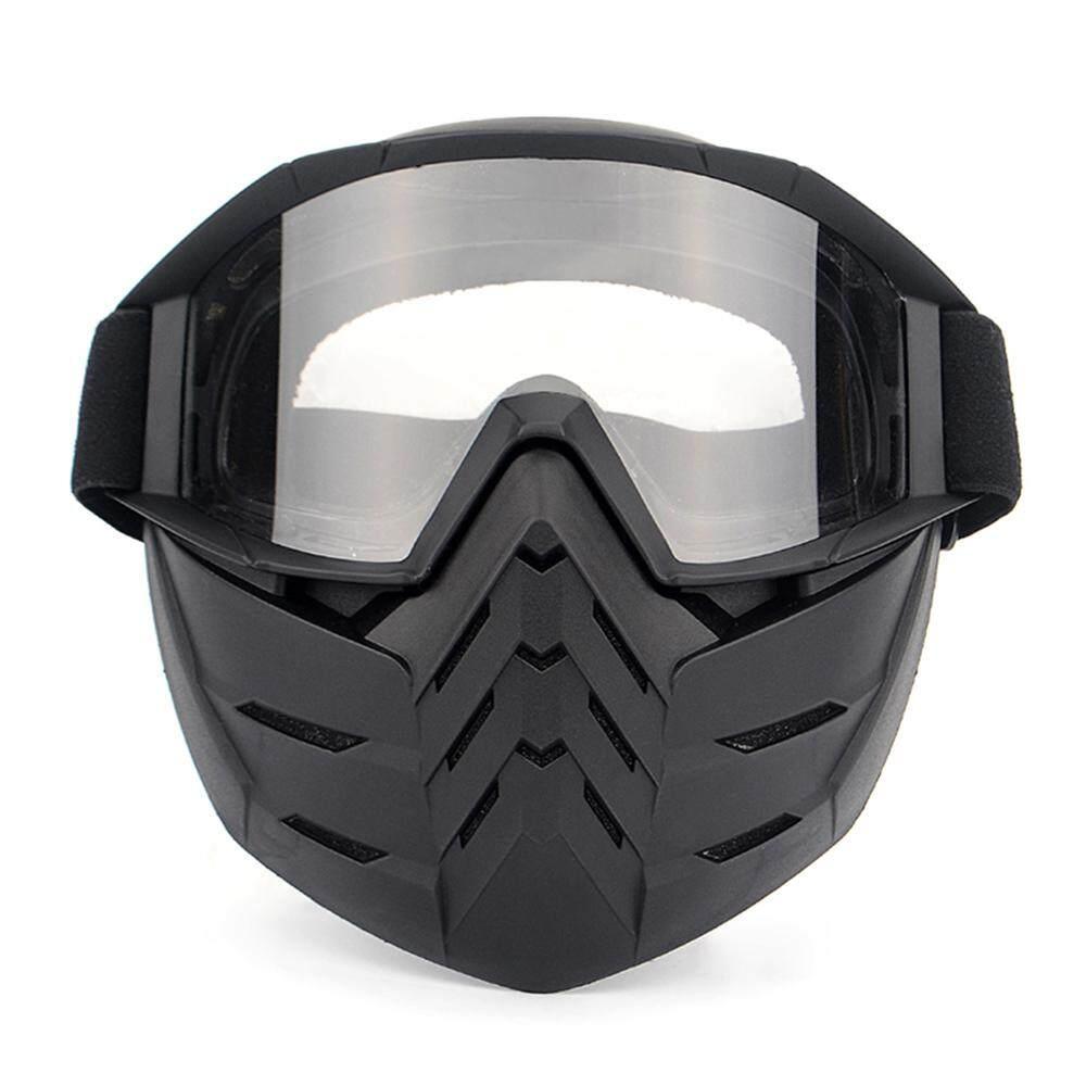 Sepeda Motor Masker Wajah Kacamata Motocross Kacamata Motor Membuka Wajah Dapat Dilepas Goggle Helm Antik Kacamata-Internasional