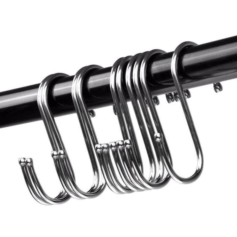 10pcs S Shaped Metal Hook Multi-functional Bathroom Kitchen Hanging Hanger Clothes Holder (S)