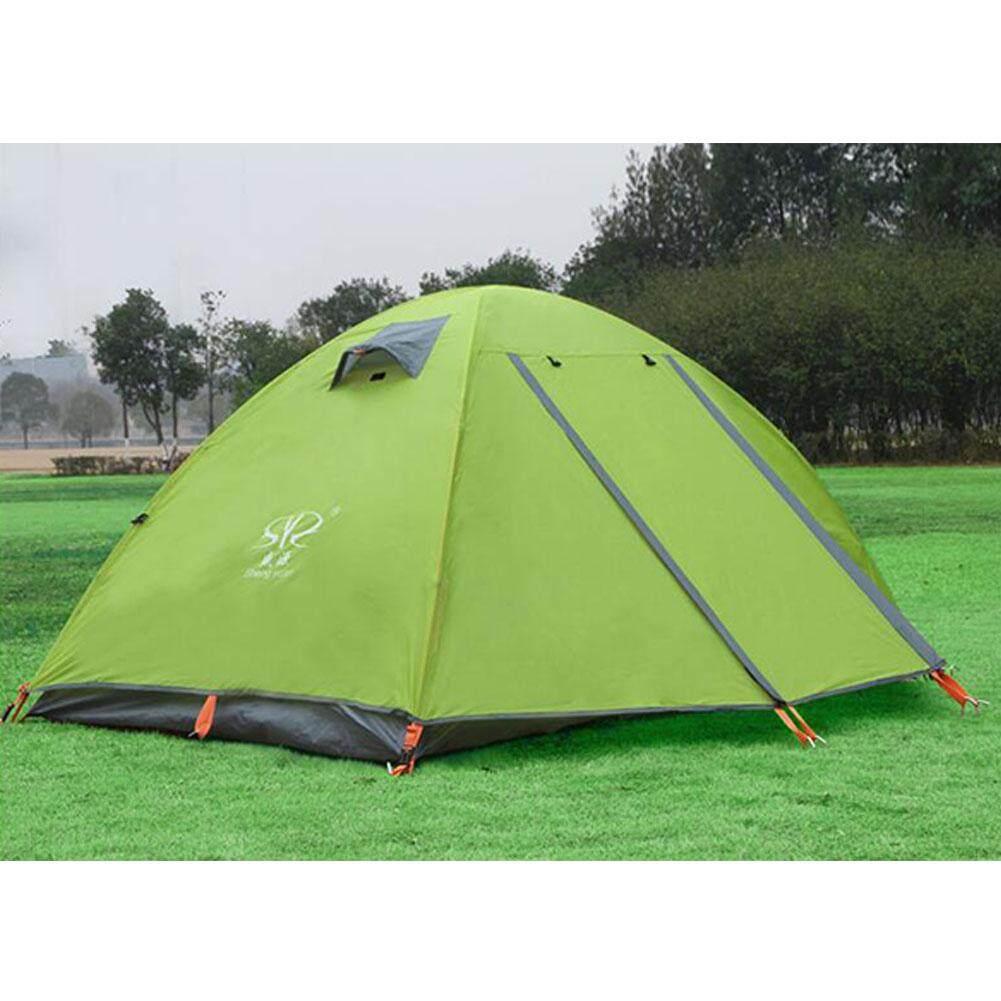 Tenda Camping Berkemah Keluarga 4 Orang Quechua Arpenaz Portabel 2 Tahan Angin Air Camp Wisata Untuk Outdoor