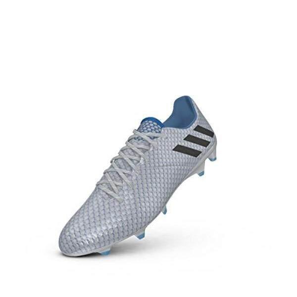 Adidas Messi 16.1 FG Perak/Hitam/Biru Sepak Bola Sepatu 8.5-Internasional