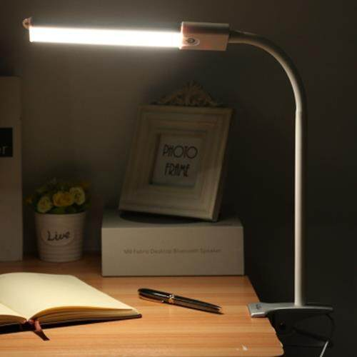 YOUOKLIGHT YK2254 DC 5V 5W 200LM CLIP FIXTURES 24 LEDS DESK LIGHT EYE-PROTECTION DIMMABLE TABLE LAMP (SILVER)