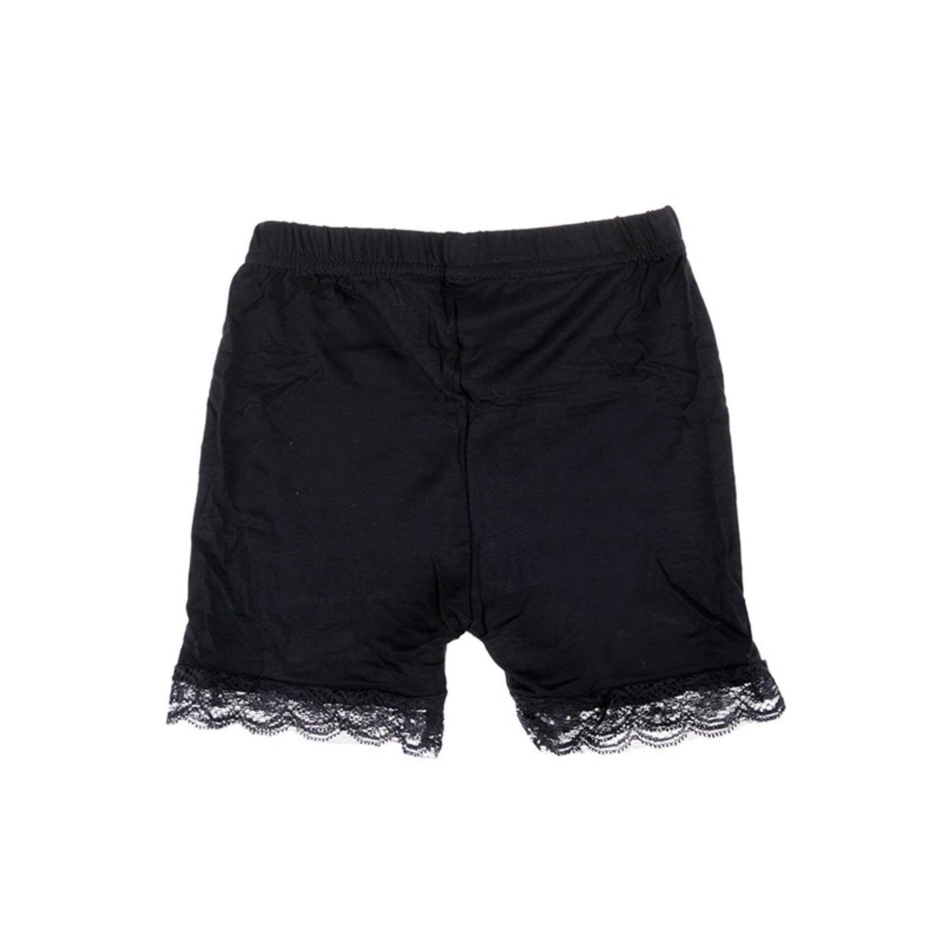 Buy Sell Cheapest 11cm Anti Best Quality Product Deals Celana Pendek Anak Perempuan Bayi Tiga Modal Berenda Aman Hitam