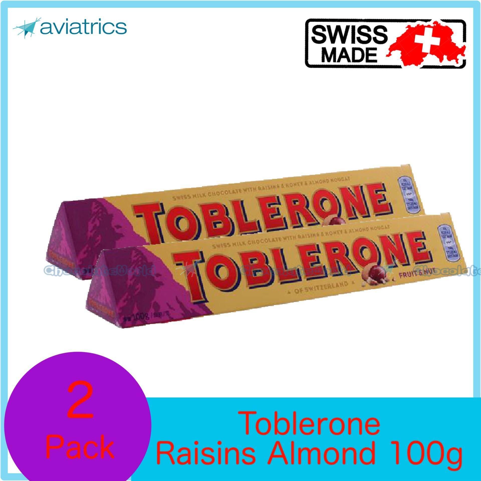 Toblerone Chocolate with Raisin 100g X 2 (SWISS MADE)