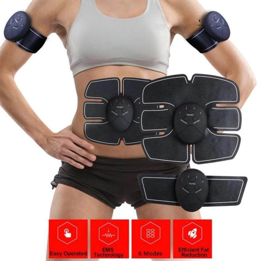 Smart Ems Abs Stimulator Muscle Strengthen Pad Fitness Body Abdominal Arm Workout Machine 4 Controllers Abs Muscle Trainingbelt Face Skin Care Tools Skin Care Tool