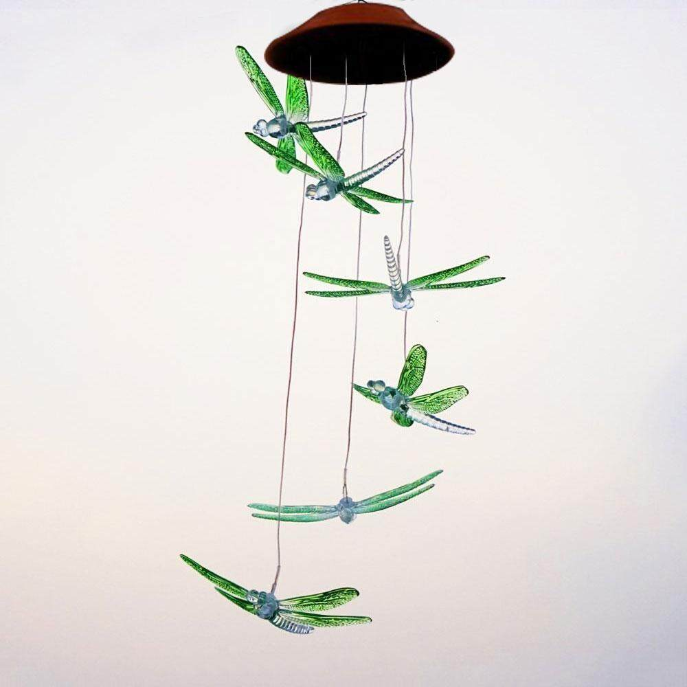 Solar Mobile Wind Chime,Hummingbird Color-Changing LED Solar Wind Chime Waterproof Hanging Lamp Wind Chime Light For Outdoor Indoor Home Yard Garden Christmas Decoration - intl