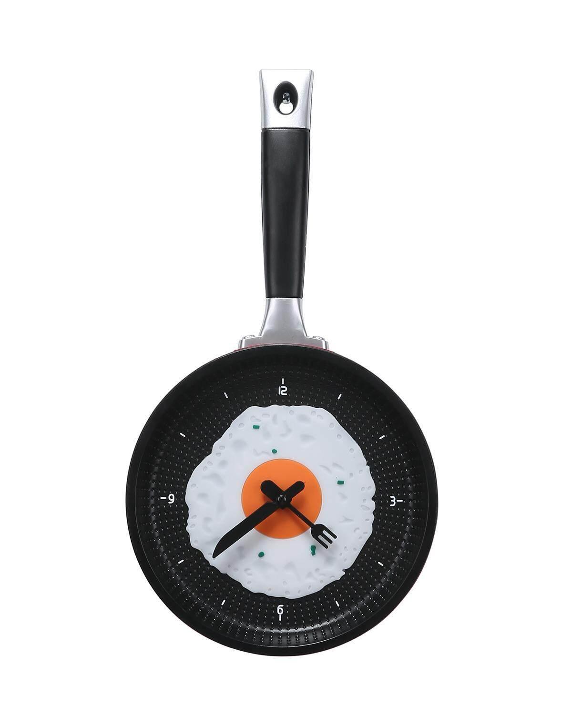 yoggus Decorative Wall Clock, Frying Pan With Fried Egg Shaped Wall Clock
