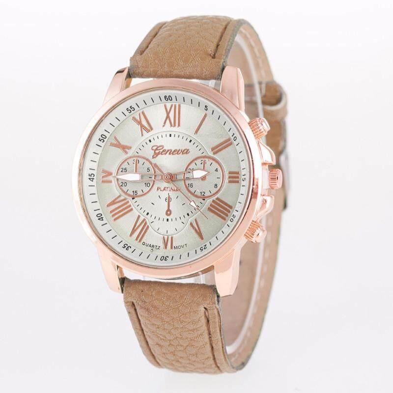Nơi bán YBC Fashion Women Roman Numerals Quartz Leather Wrist Watch Grey - intl