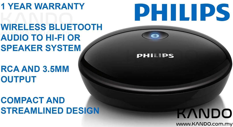 [MALAYSIA]Philips Bluetooth Hi-Fi Adapter with Bluetooth Receiver Wireless Bluetooth Audio Bluetooth Stereo Audio Receiver Bluetooth Audio Receiver Bluetooth stereo adapter Aux Audio Receiver