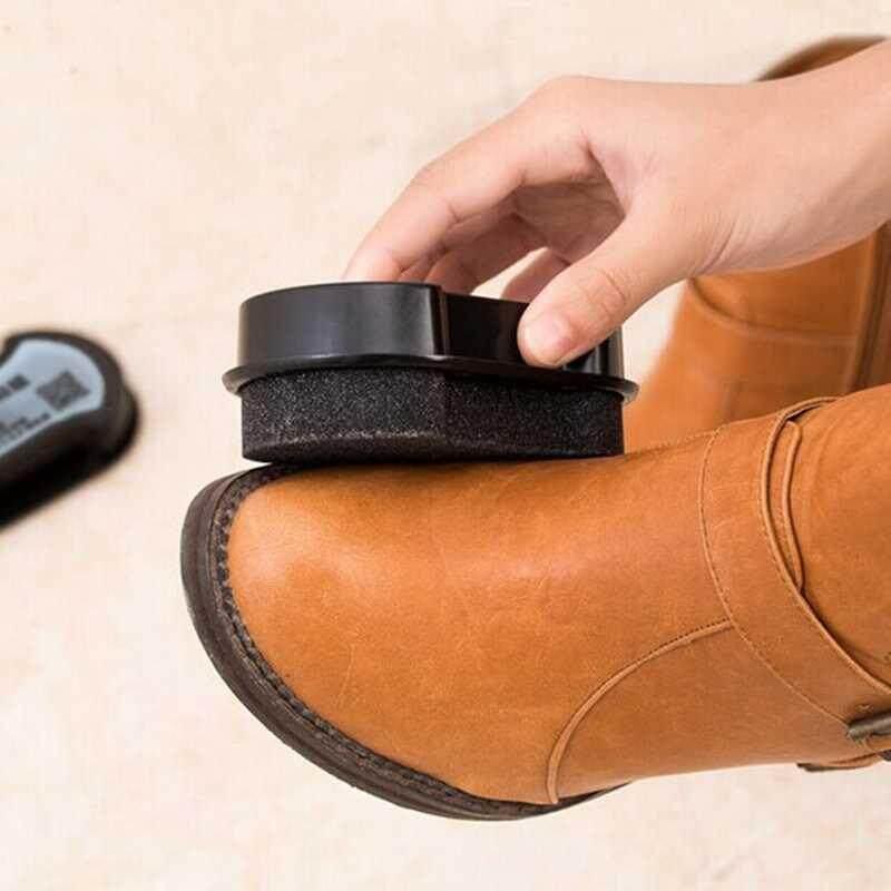 M_home 1 Pcs Kulit Pemolesan Pembersih Liquid Wax Bersinar Spons Polisher Sepatu Boot Sofa Cepat Shine Sepatu Kuas Pembersih kualitas Terbaik-Internasional