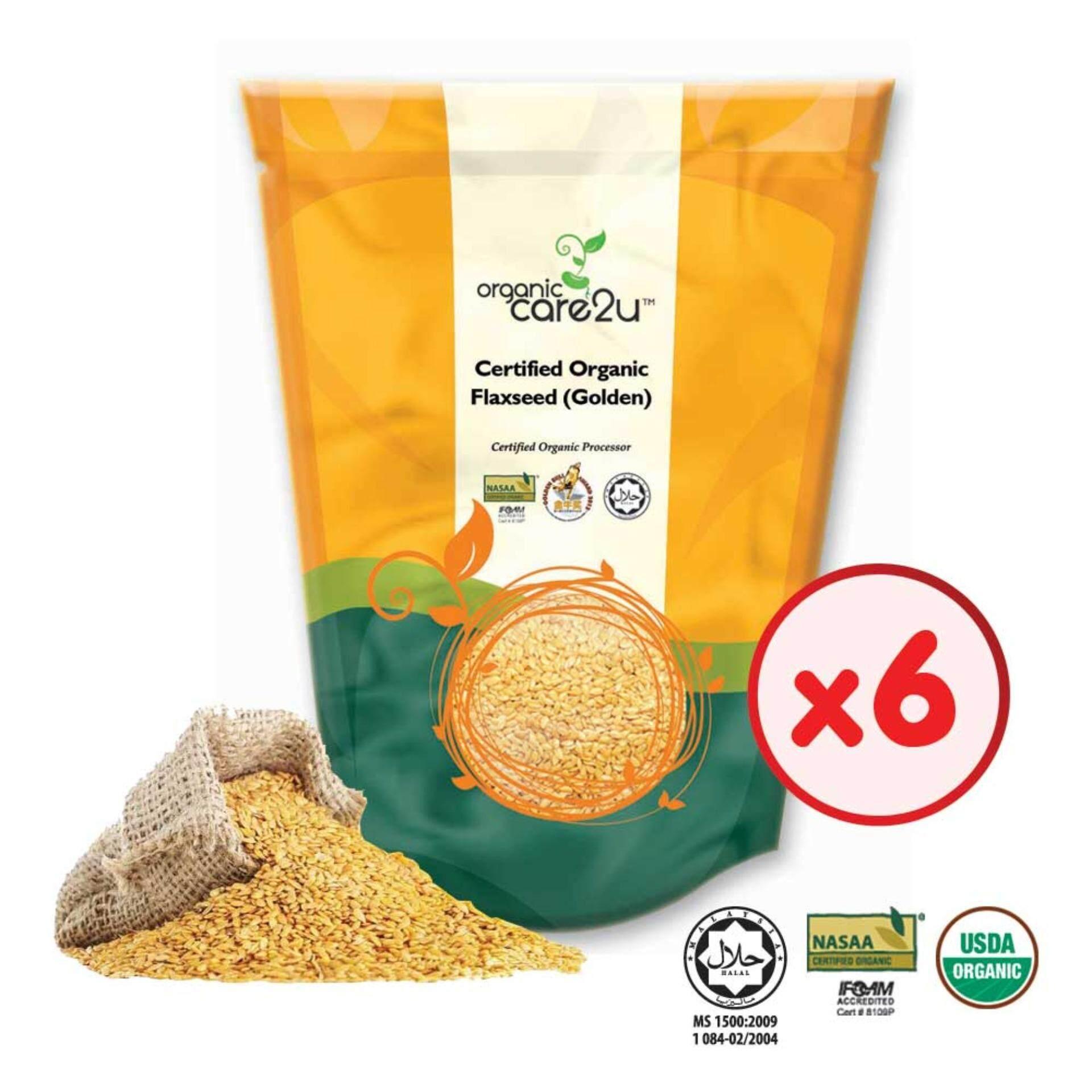 Organic Care2u Organic Flax Seed (Golden) (200g x 6 Packs)