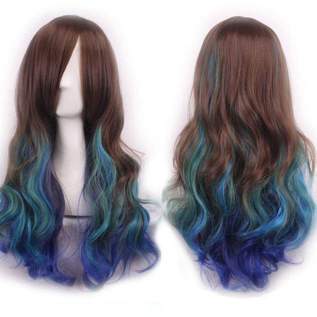 Women Lady Long Hair Wig Curly Wavy Synthetic Anime Cosplay Party Full Wigs Hot Sale Marionshop