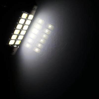 Sencart 2Pcs 6W 39mm 12x5730SMD Car Interior Dome Map Reading Light LED Bulbs (WHITE)
