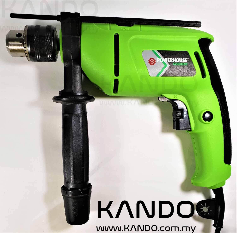 [MALAYSIA]POWERHOUSE Impact Drill 710W & Cordless Screwdriver Set Electric Drill Gerudi Elektrik 3.6V Cordless Screwdriver with Screw Bits Set and Drill Bit Adapter Bit