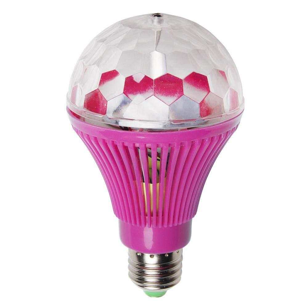 Hiiopiio E27 3W LED Colorful Bulb Auto Rotating RGB Stage Light Party Lamp  Disco Light (