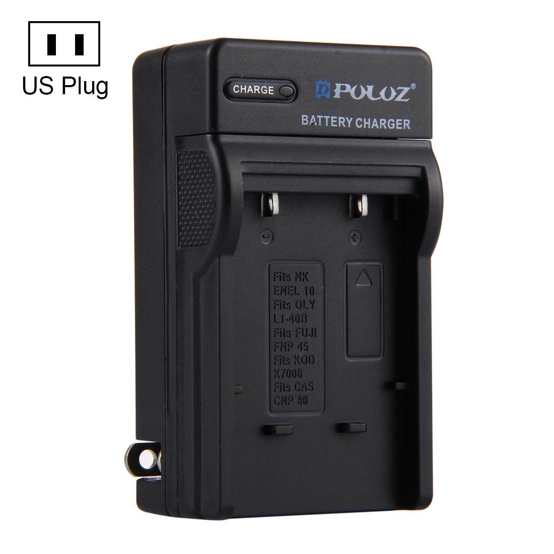 PULUZ US Plug Battery Charger for Nikon EN-EL10, Olympus LI-40B, FUJI FNP-45, Kodak K7006, CASIO CNP80 Battery - intl