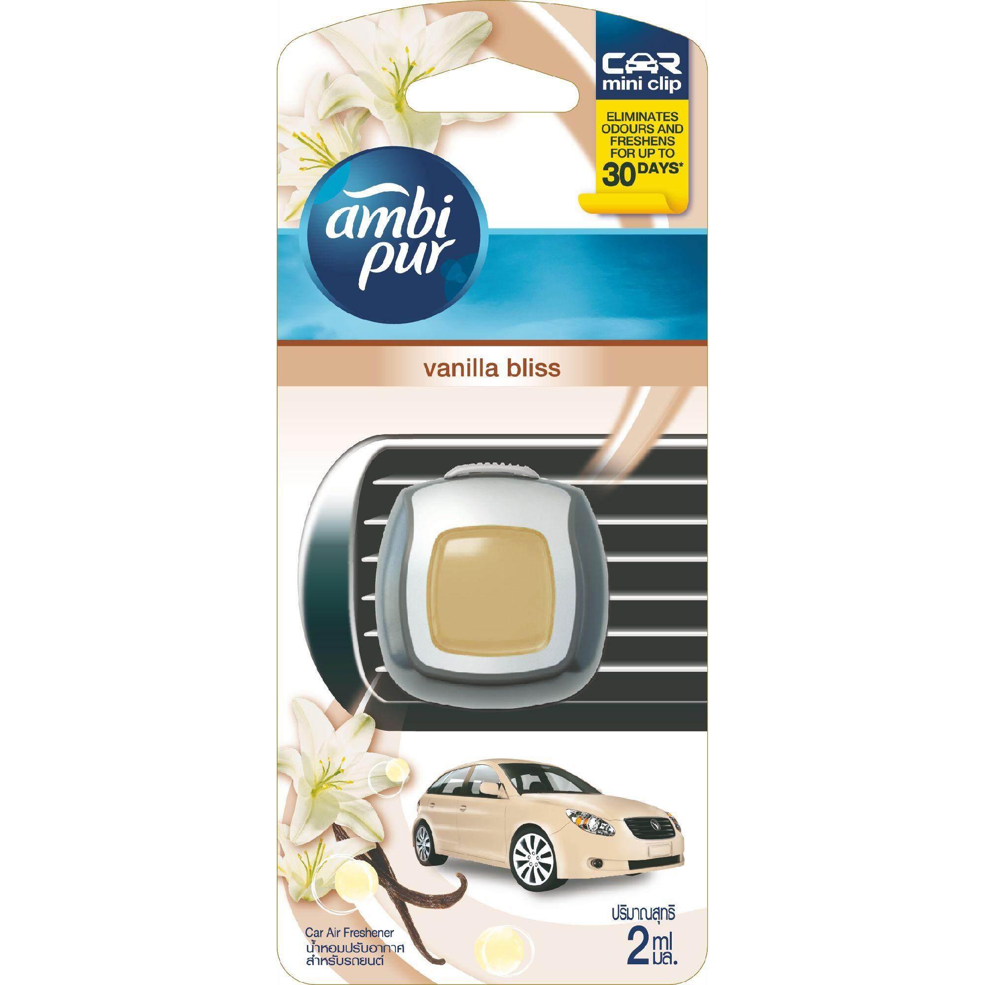 Ambi Pur Mini Clip Car Air Freshener Vanilla Bliss 2ML