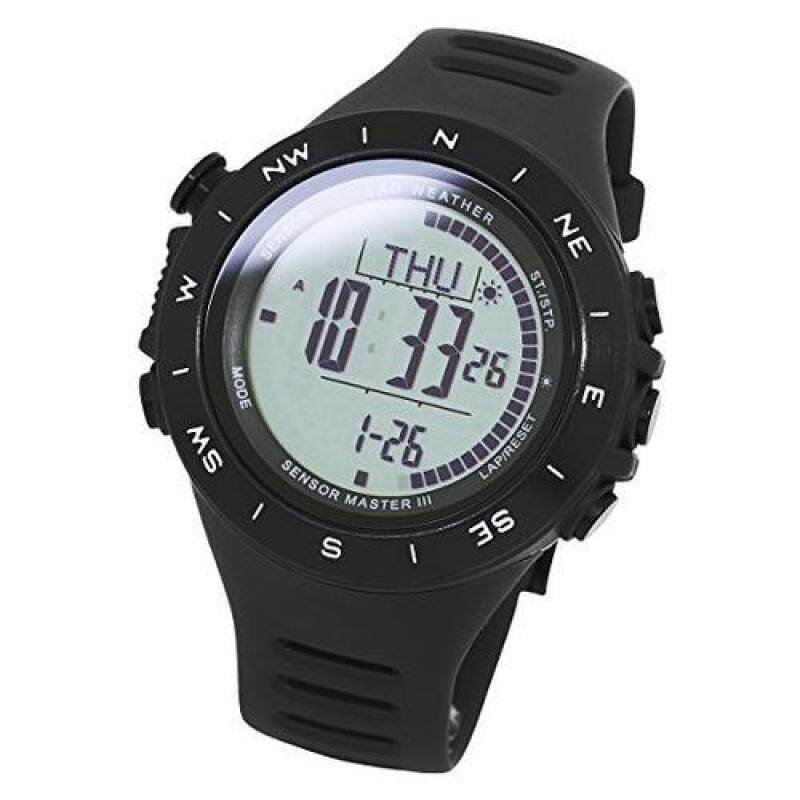[LAD WEATHER] [LAD WEATHER] Extremely Multi-functional Watch Altimeter Weather Forecast distance/ speed/ steps/ calorie [From USA] Malaysia