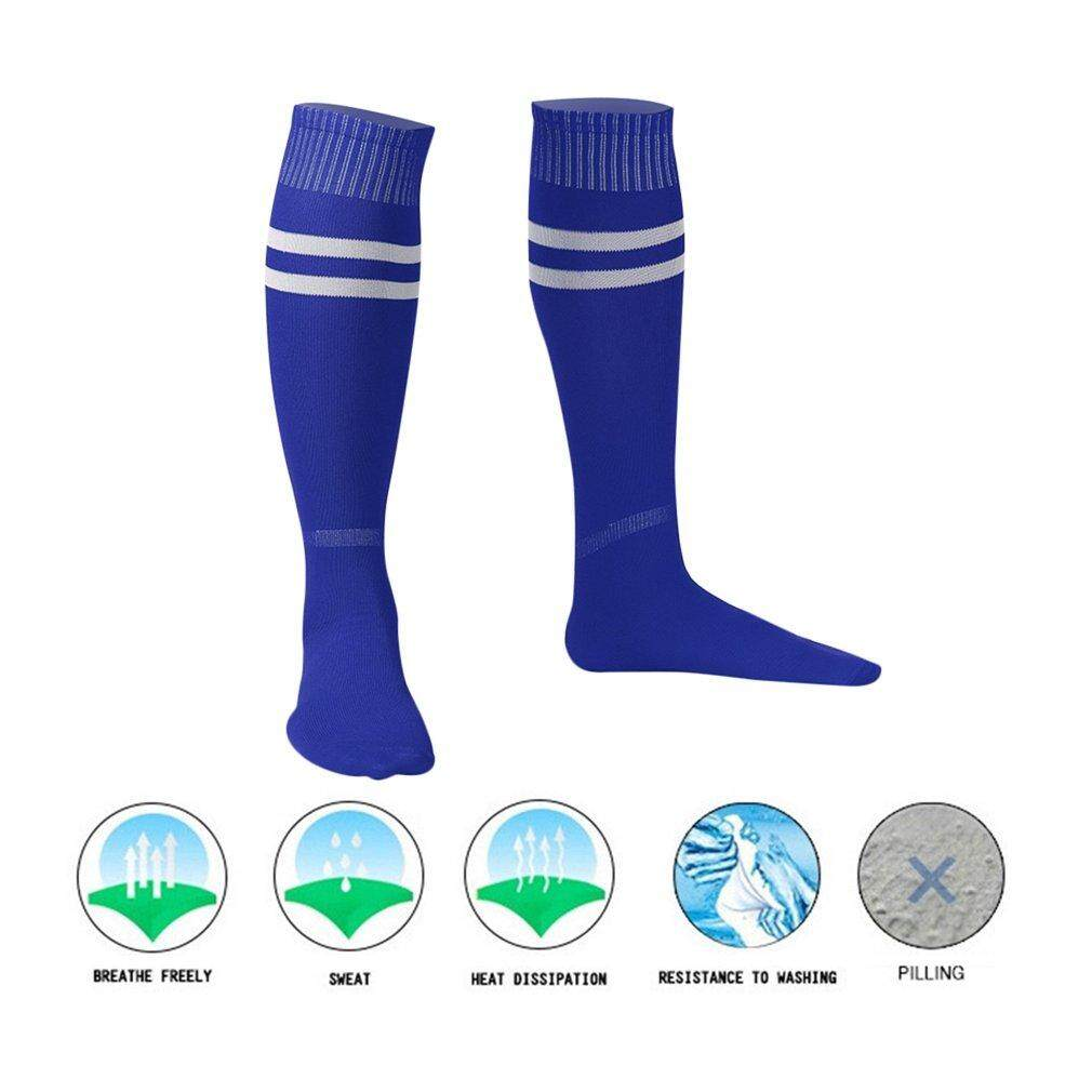 Getek 1 Pasang Kaos Kaki Olah Raga Sepak Bola Sepak Bola Bisbol Atas Pergelangan Kaki Lutut Pria Wanita Kaus Kaki By Yikahome.