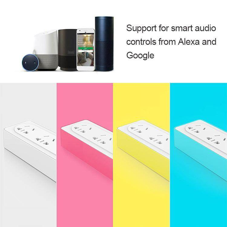 Wi-Fi Smart Extension Socket, External Power Strip 4 Outlets 2 USB Seperately Remote Control for iOS Android - intl