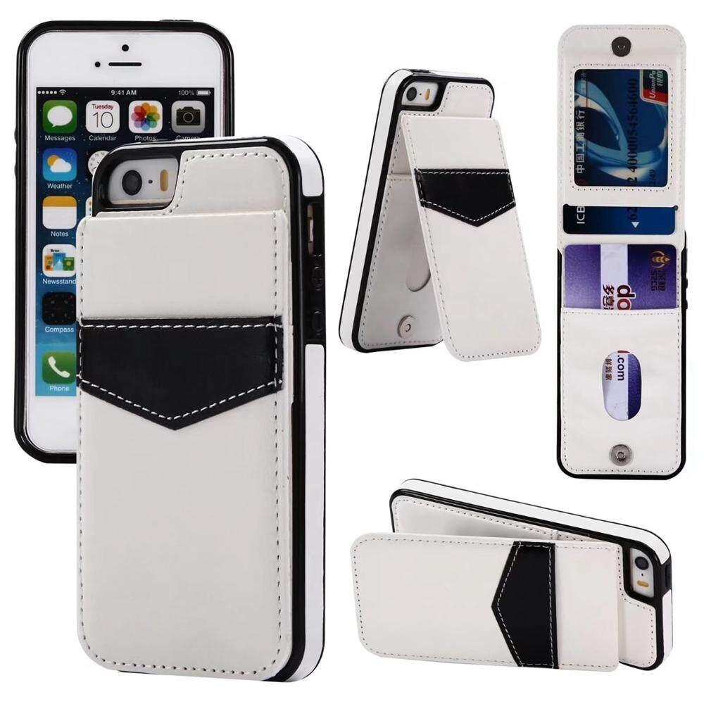 Jual Panas Naik Turun Lipat PU Kulit Dompet Warna-warni Case dengan Kartu Slot Berdiri Penahan Sarung untuk iPhone 6 plus/6 S Plus-Internasional