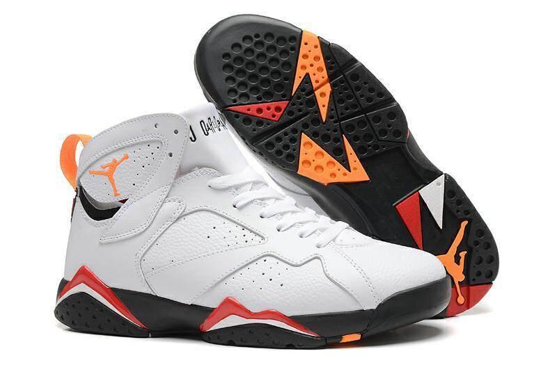 Udara Jordan 7 Retro Kardinal Putih Hitam-Kardinal Merah Perunggu Nike Udara Jordan 7-Internasional