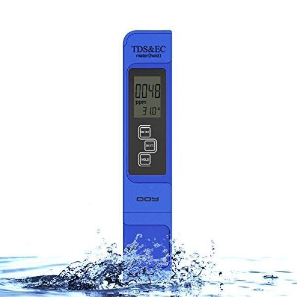 DOY Digital TDS Tester Meter for Water Quality Testing, 3-in-1 Accurate(TDS,EC,Temperature), 0-9990 ppm, 1 ppm Resolution,+/-2% High Accuracy, Included-Pocket Size Water TDS Tester- Blue