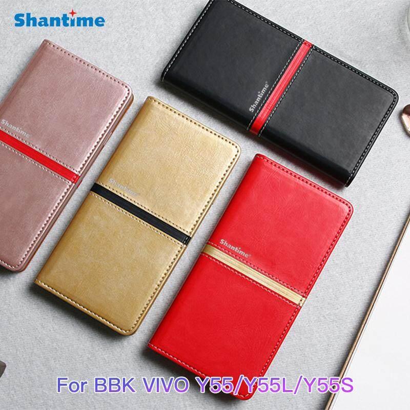 Book Case For BBK VIVO Y55 Luxury Vintage Pu Leather Wallet Flip Case For BBK VIVO