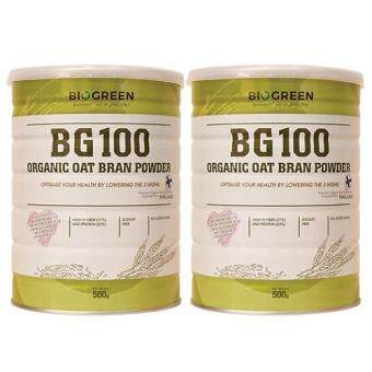 BIOGREEN BG100 ORGANIC OAT BRAN POWDER 500G (BUY 1 FREE 1)