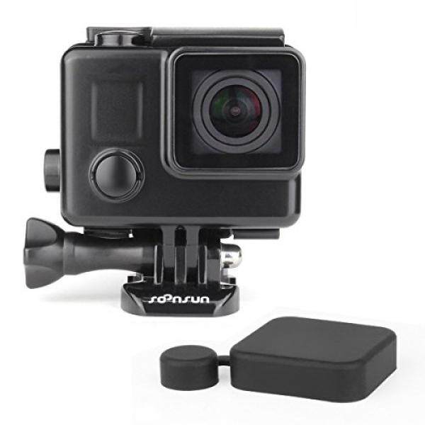 Soonsun Blackout Wadah Anti Air Case untuk GoPro Hero4 Hero3 + Pahlawan 4 3 Kamera Hitam Keluar Penyembunyian Bawah Air 35 Meters- internasional