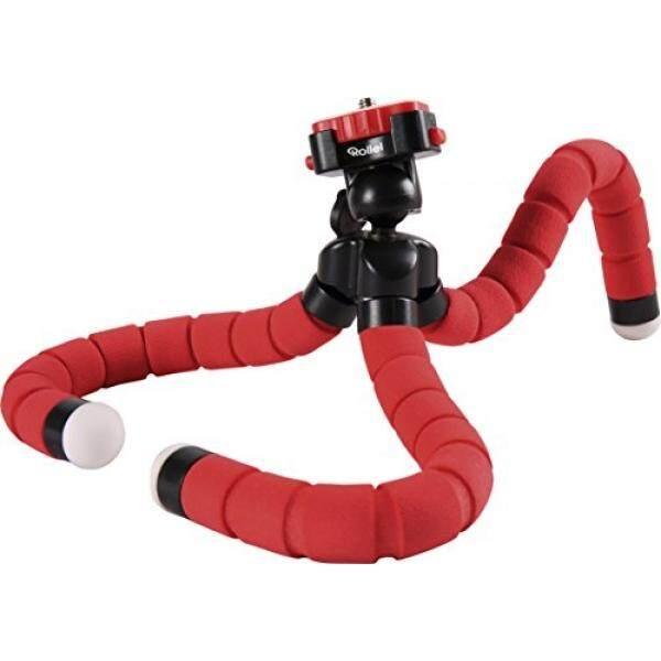 ROLLEI Monyet Pod Adaptif Mini Tripod Anda Bepergian With Kaki Fleksibel, Incl. Bola Kepala atau Pelepasan Rilis Cepat-Merah-Internasional