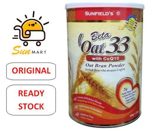 SUNFIELD'S Beta Oat 33 with CoQ10 (420g +EXTRA 50% 210g)