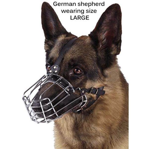 Bronzedog Kawat Keranjang Keranjang Anjing Gembala Jerman Logam Kulit Dapat .