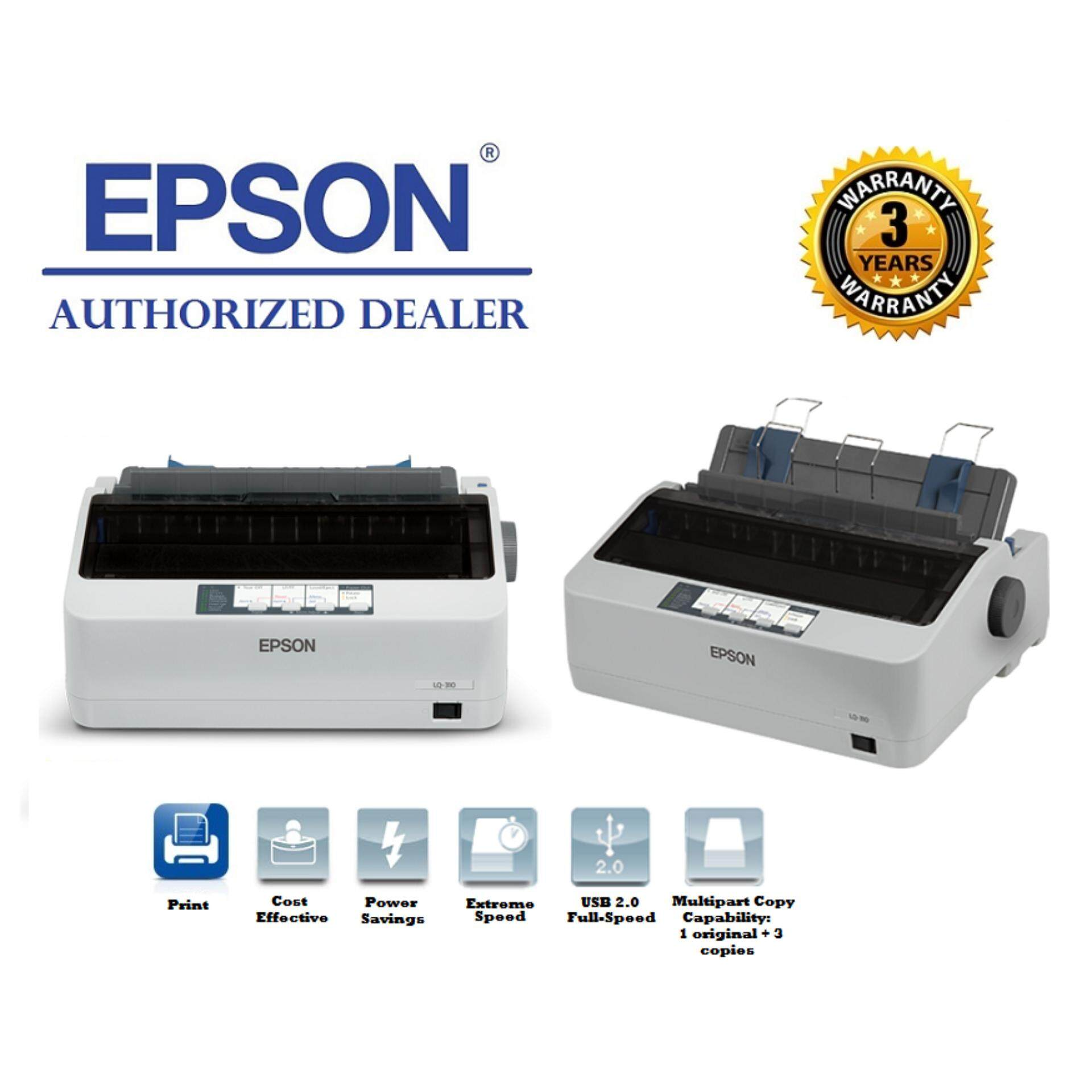GENUINE EPSON LQ-310/LQ310 DOT MATRIX PRINTER WITH 24-PIN NARROW CARRIAGE IMPACT
