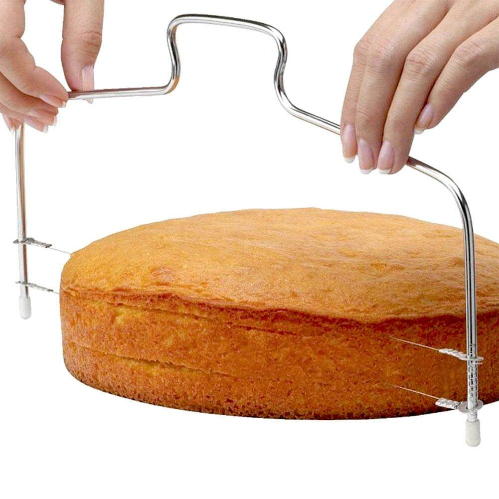Stainless Steel Cake Slicer Adjustable Wire Cake Slicer Cutter Leveller Decorating Bread Decor Tool
