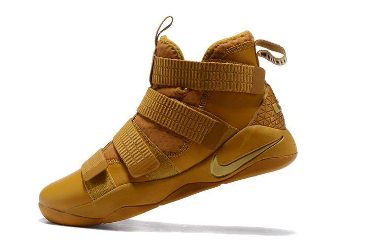 Get Cheap Brown Gold Lebron Soldier Xi Sfg Mid Top Lebron James 11 Durable Nba Fmvp Shoes Lebron Raymone James King James Cavaliers Men S Nba Basketball Shoe Fashion Offical Eu 40 45 Intl