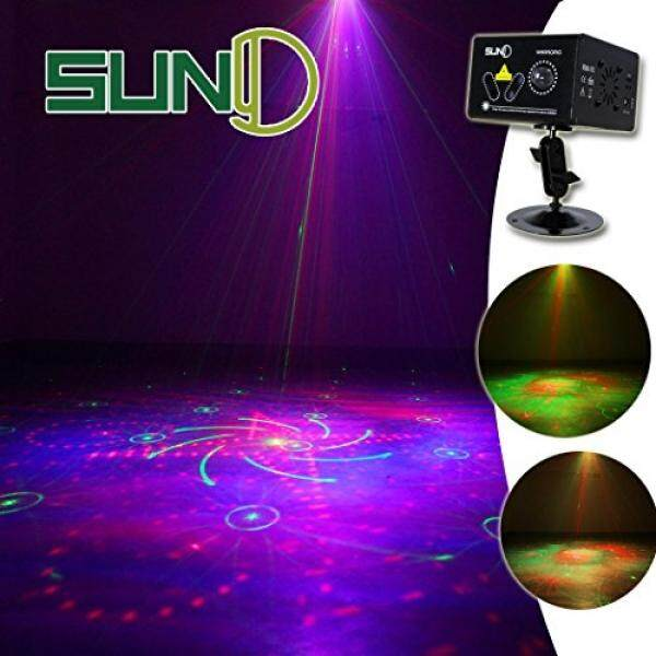 Christmas Laser Lights SUNY DJ Party Event Decorative Lighting Projector Red Green Light 5 Lens Multiple Gobos Projection Lamp RGB Full Color Wave LED for Show Holiday Indoor Decoration Xmas Room