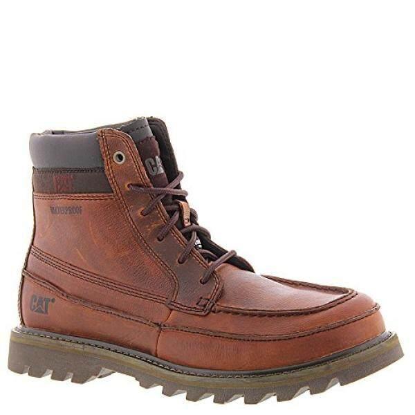 Caterpillar Mens Jist Waterproof Ankle Boot,Rust Full Grain Leather,US