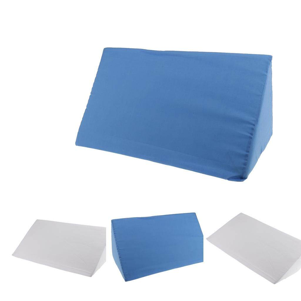 Discount Bolehdeals 4Pieces Foam Bed Wedge Pillow Elevation Cushion Washable Cover White Blue Intl