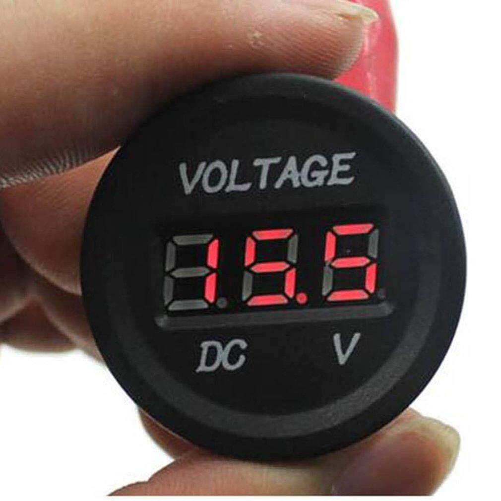 Catwalk 12 V-24 V DC LED Digital Display Voltmeter Otomatis Metro Voltmeter Kedap Air