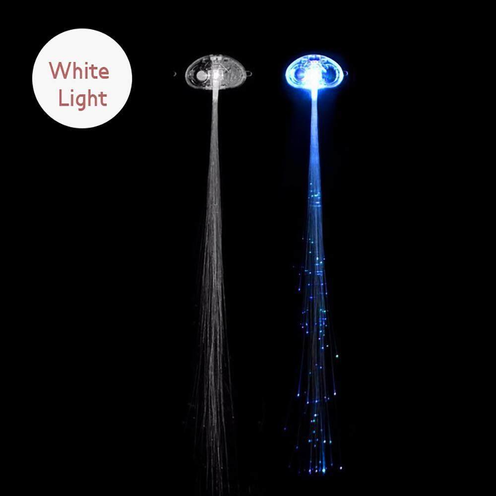 Yjjzb LED Lampu Rambut, Ringan-Hingga Serat Optic LED Rambut Jepit Pesta Nikmat untuk Pesta, bar Tarian Hairpin, Rambut Klip, Warna-warni Blitz Jepit Klip Braid (Putih)-Internasional
