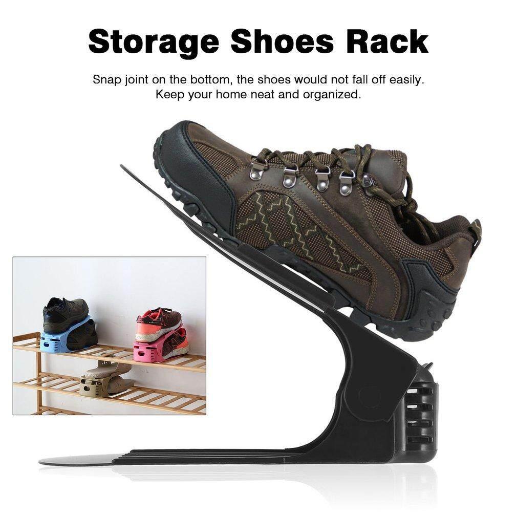 Catwalk Rak Sepatu Pembersih Ganda Gudang Moderen Rak Sepatu Organizer Penyangga