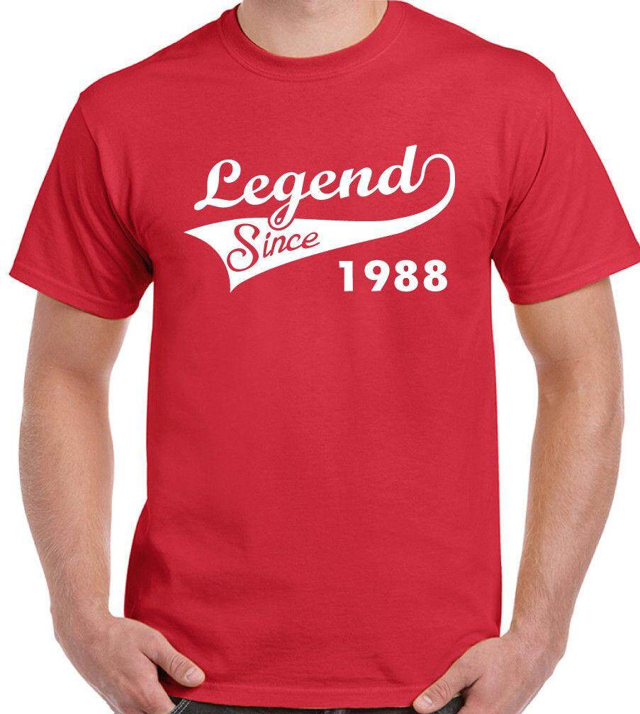 Details About Legend Since 1988 Mens 30th Birthday T Shirt 21 Year Old Gift Cotton