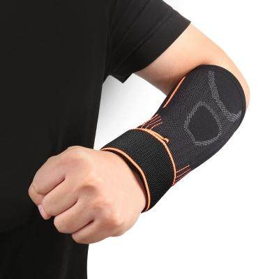 OULANG Knitted Sports Elbow Sleeve Brace (TANGERINE)