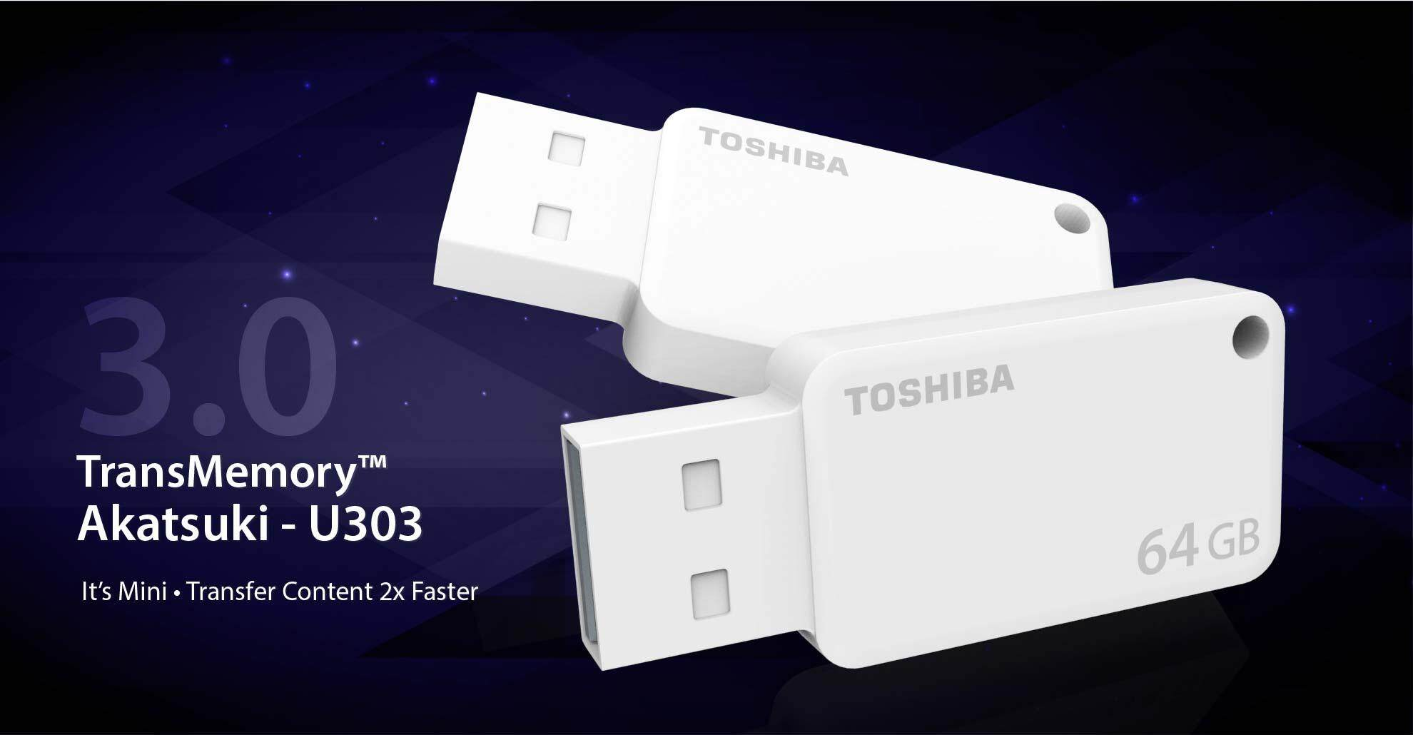 Toshiba Transmemory U303 32gb Super Speed Usb 30 Akatsuki Flash Disk 32 Gb Hayabusa Original Drive White
