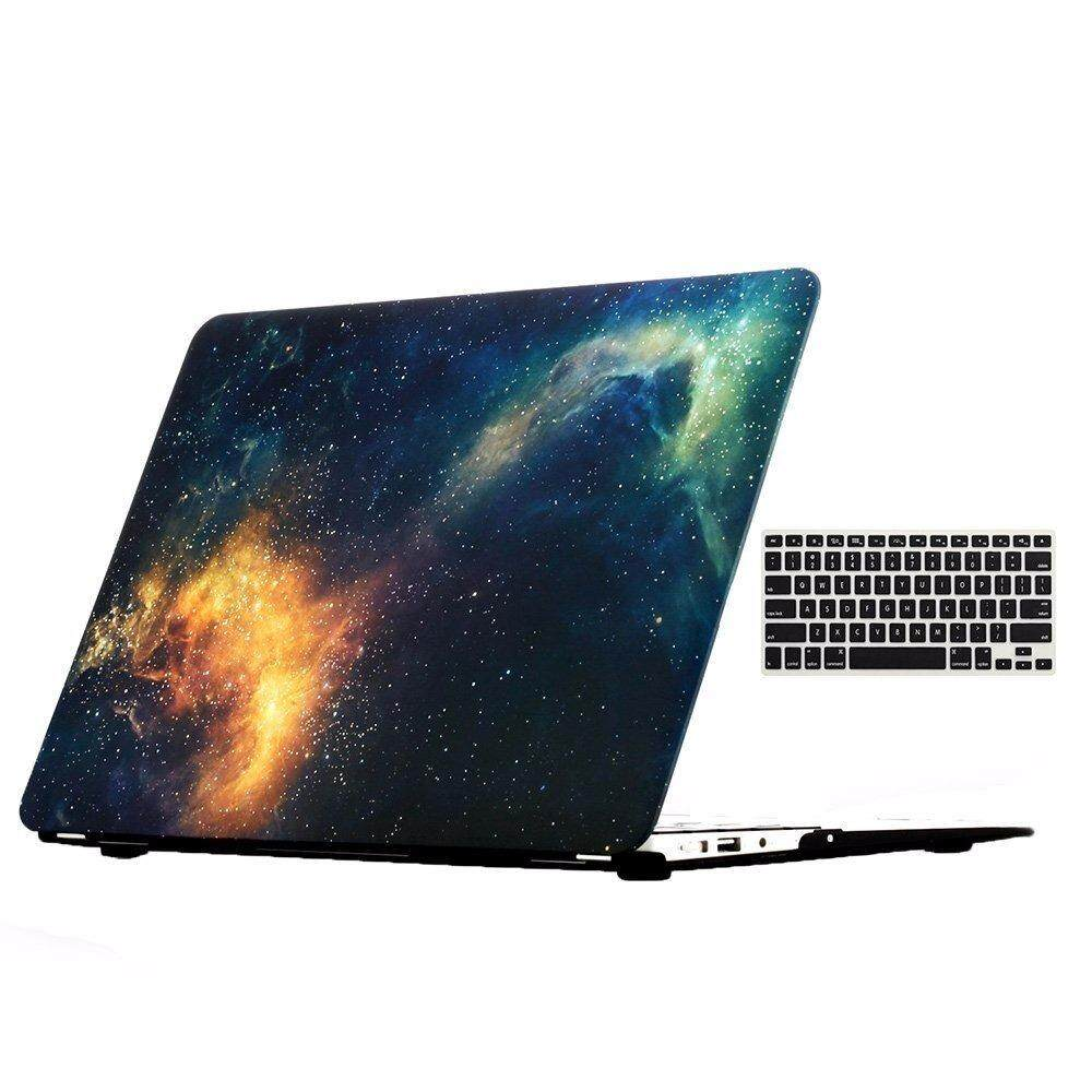 MacBook Air 13 Case Galaxy Plastic Hard Shell Case Incidental Keyboard Cover for Apple MacBook Air 13 A1369 / A1466 ...