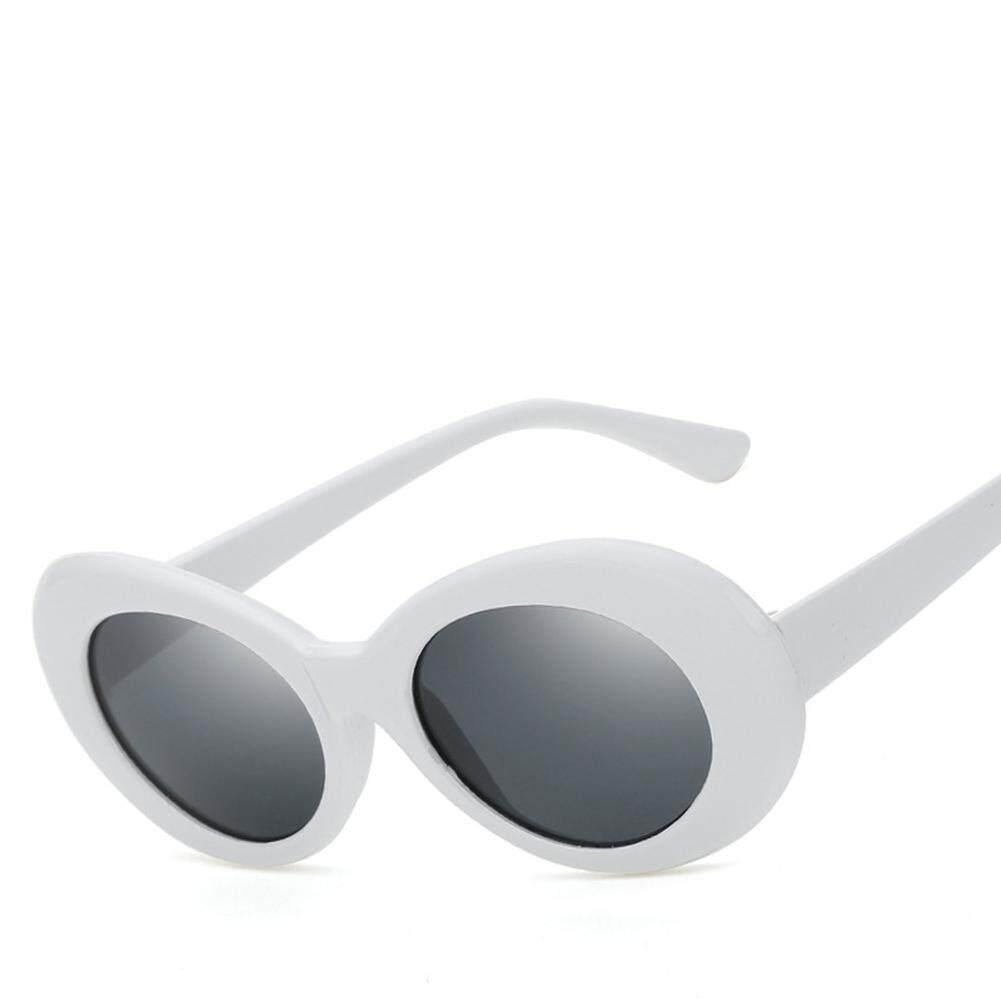 Dsstyles Fashional Lonjong Sepanjang Retro Memperluas Bingkai Kacamata Hitam untuk Pria dan Wanita Warna Lensa: 2. putih dan Abu-abu Spesifikasi: KD9750/Lima Belas/27-Internasional