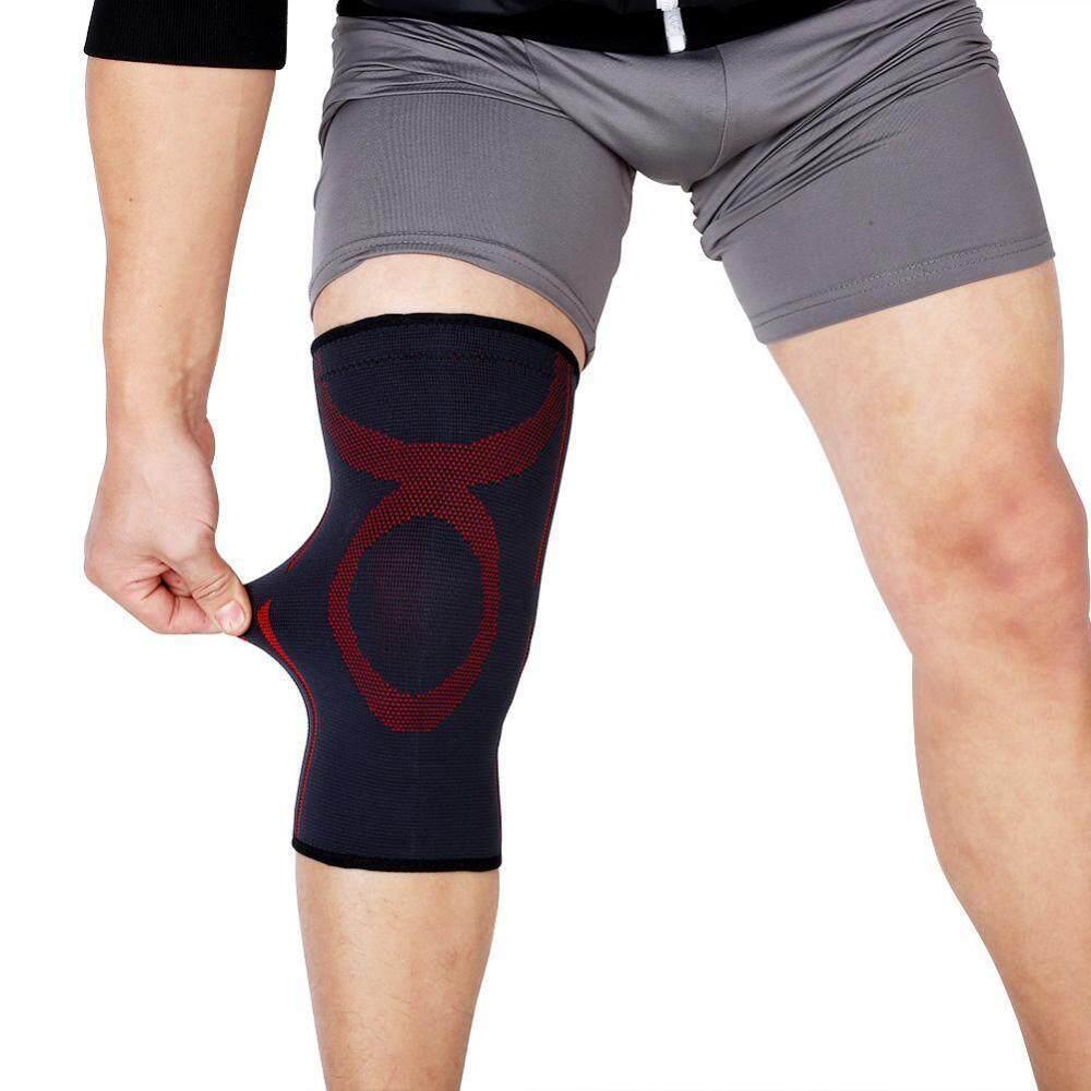 Olahraga Sabuk Dukungan Elastis Lengan Pembungkus Lengan Bola Voli Lutut Alas Hitam + Merah M-Internasional By Rongshida.