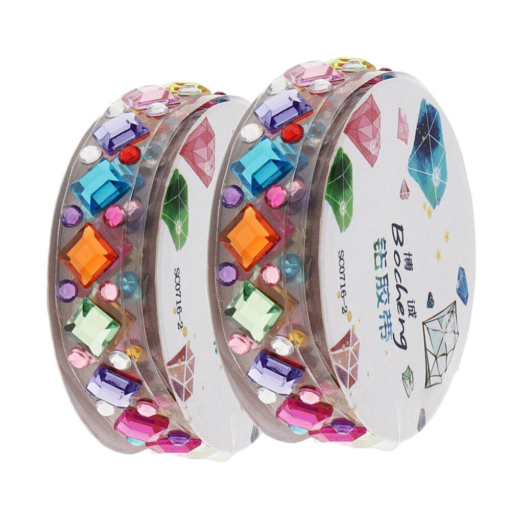 Bolehdeals 2 Roll Multi Shapes And Colors Self-Adhesive Acrylic Rhinestone Sticker Tape - Intl By Bolehdeals.