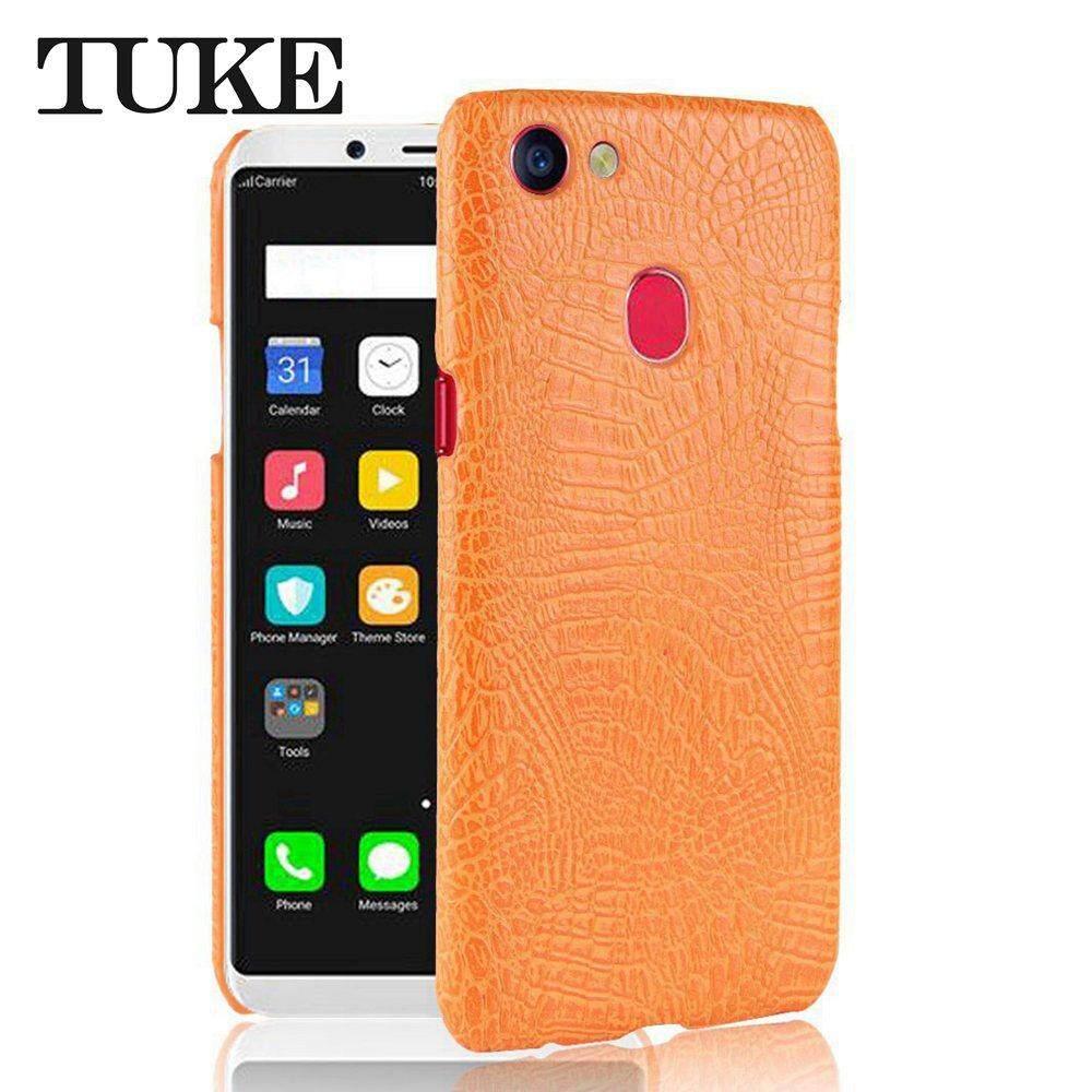 Review Tuke Crocodile Pattern Case For Oppo F5 Celular Pu Leather